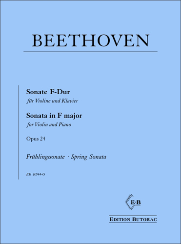 Cover - Beethoven, Sonate Nr. 5 F-Dur op. 24