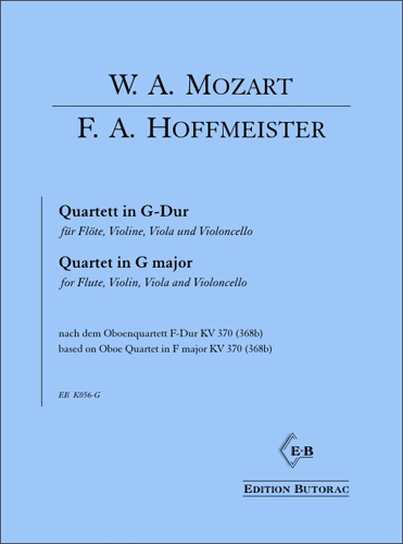 Cover - F.A. Hoffmeister, Quartett in G-Dur