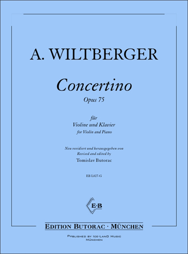 Cover - August Wiltberger, Concertino op. 75