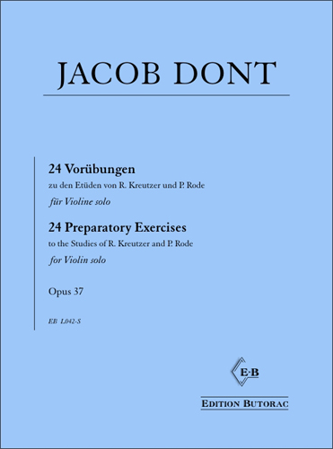 Cover - Jacob Dont, 24 Vorübungen op. 37