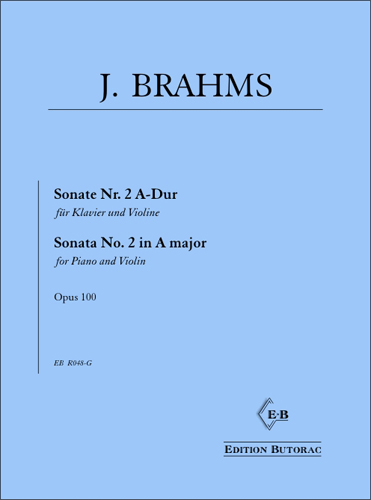Cover - Brahms, Sonate Nr. 2 op. 100